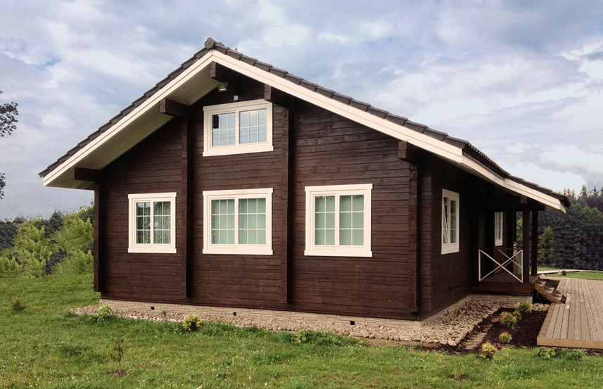 Wooden chalet-style house