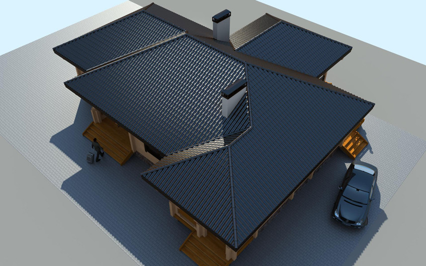 "Construction out of timber : timber house plan ""Ritsu"""