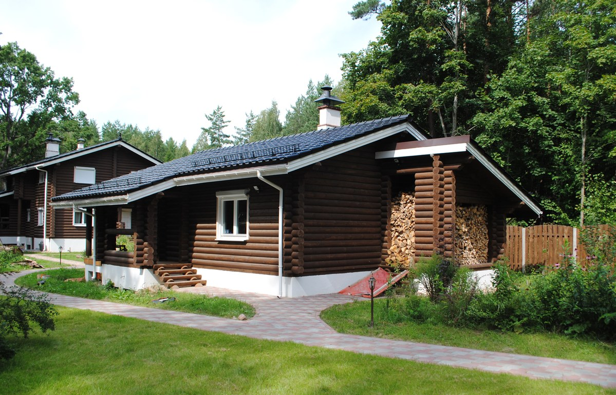 "Wooden log banya ""Lotta"" 63 m²"