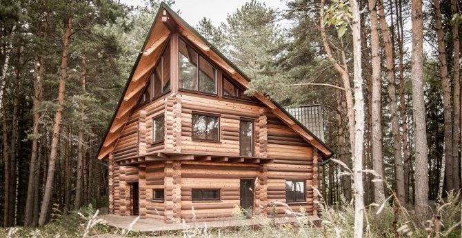 "Log House ""Tyrone"" - the project of a house in country style with modern interior"