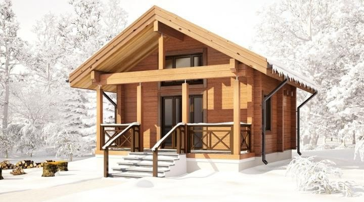 Modular homes cottage from glulam