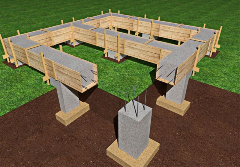 If You Piece Of Land Is Has Marshy Ground Or Ground Level Differences The  Most Suitable Foundation Time For Your Log House Will Be Piled Foundation.
