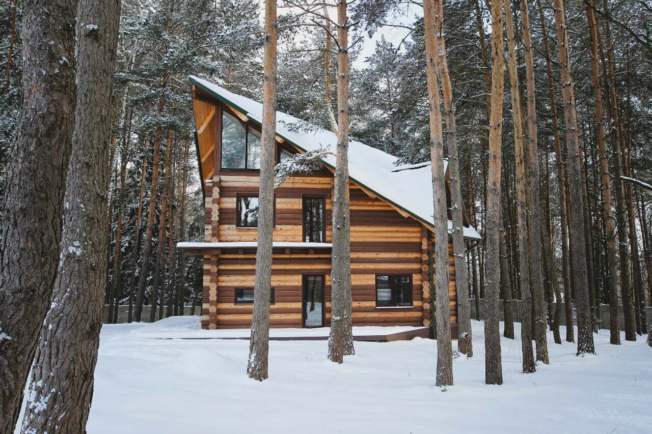 "Wooden house in Canadian style with a terrace - project ""Canada"""