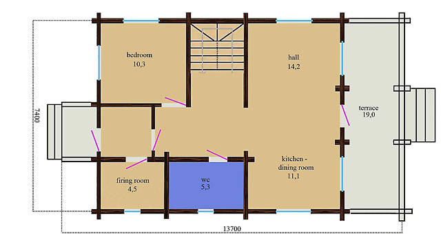 Wooden house plans: Polish wooden house \
