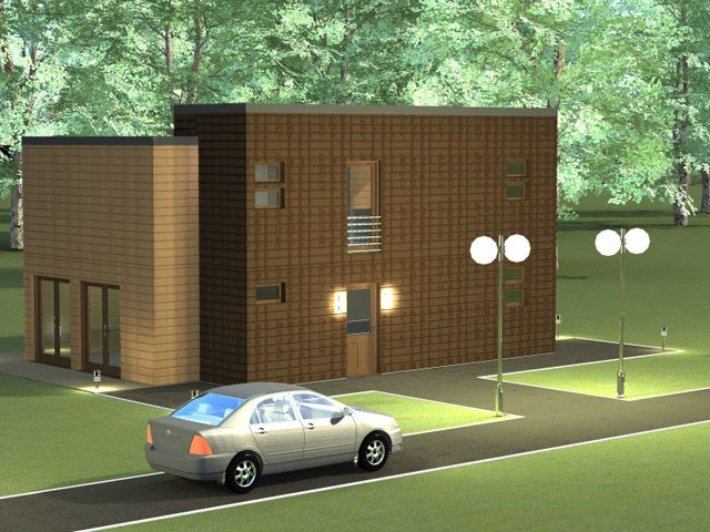 Prefab home plans: wooden home plan Urban 183 m²