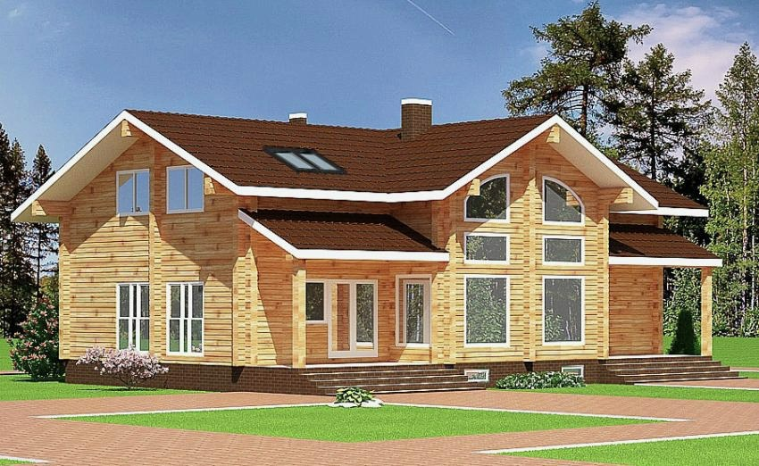Wooden house plans: Wooden house  Blanka  196 m²