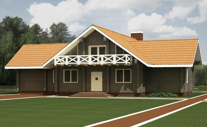 Wooden house plans wooden home with concrete basement Polish house plans