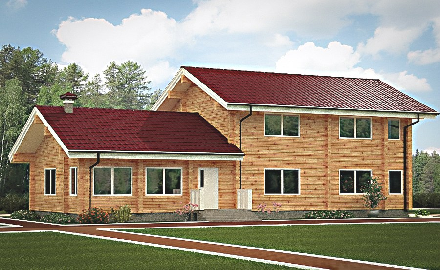 Wooden house plans: Wooden home 175 m2