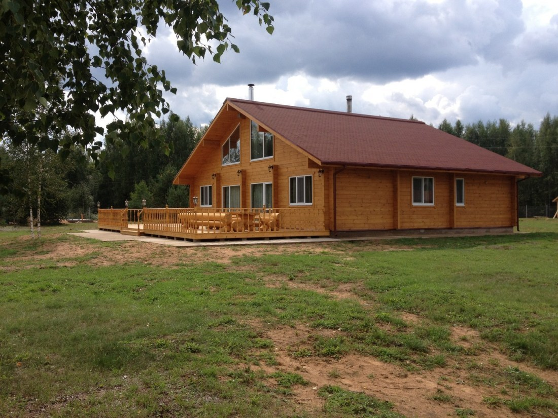Wooden house plans chalet lauri 252 m2 for Chalet style home kits