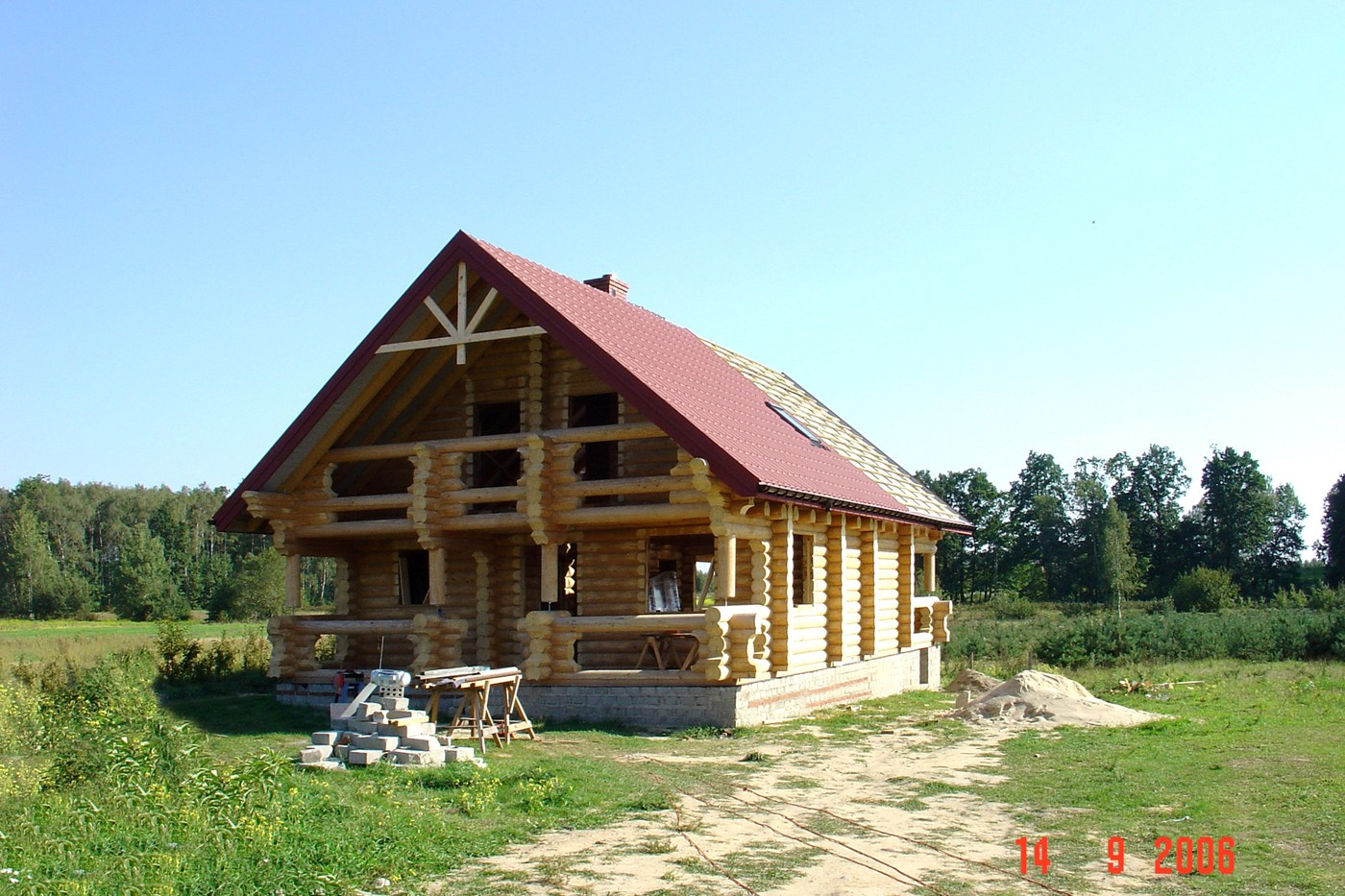 Wooden house plans: Eco timber country wooden homes: prefab timber house kit  House 166  - total area 166 square meters
