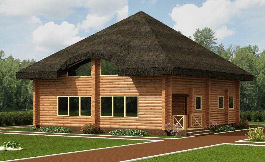 Thatched roof home plans house design plans for Thatched house plans