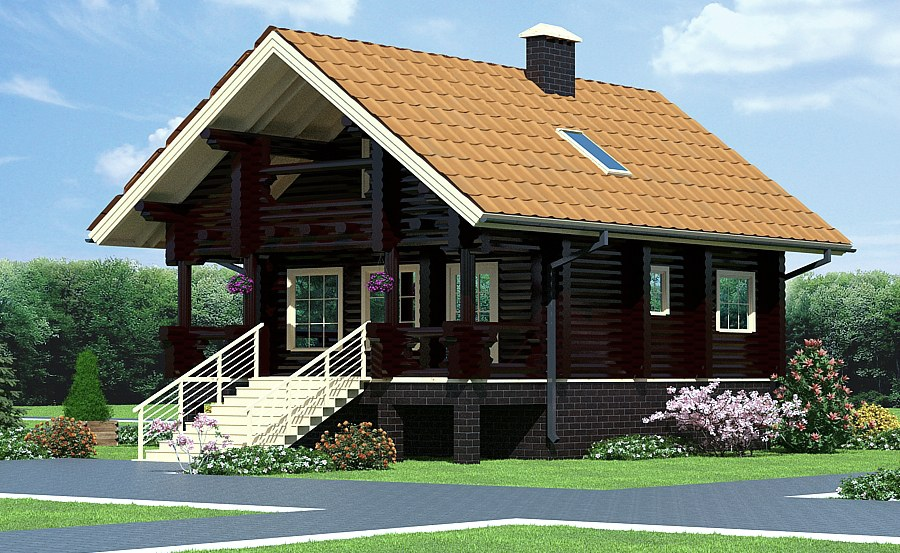 Log cabin plans : Log camping house  Anelma  93 m²