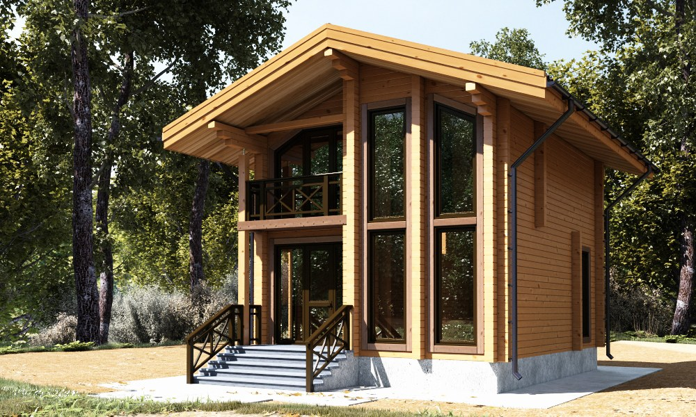Modular home  Till  84 m2 Glued Laminated timber