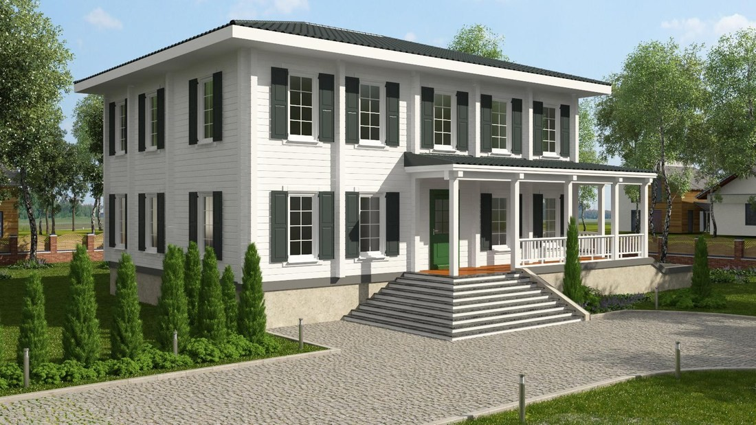Designs of an american-style wooden house  Kingspan
