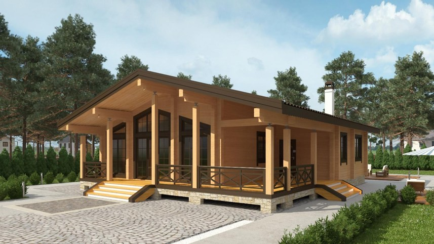 Design of a tiny wooden house  Ikihirsi  from glulam