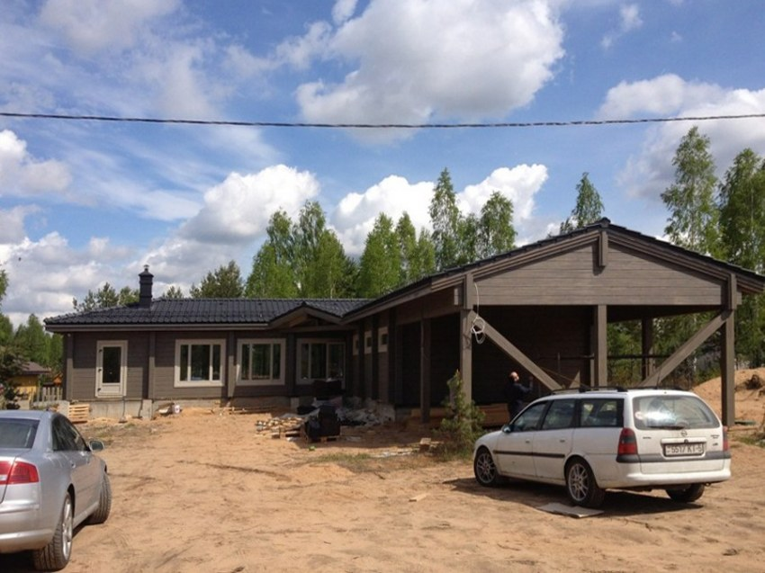 Wooden house, log house, timber house, design, construction