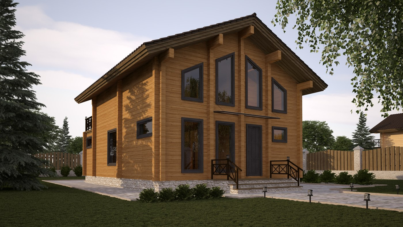 Wooden Houses TOP Designs: Wooden prefabricated home  Kontio