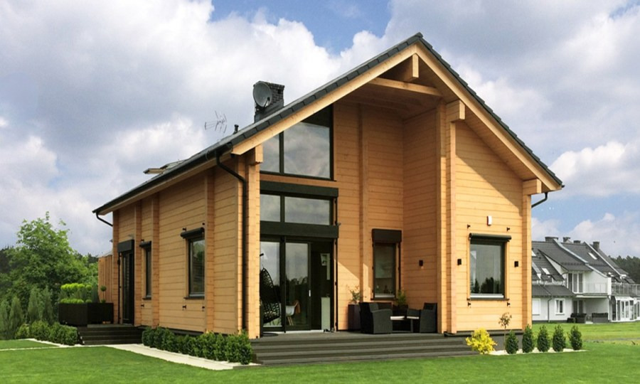 The project of a house assembled in poland wooden house laila