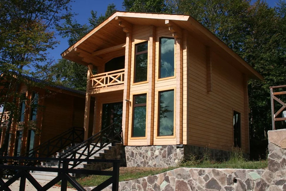 Energy saving in wooden house