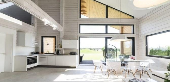 Modern Trends In Wooden Housing Development. Glulam Beams