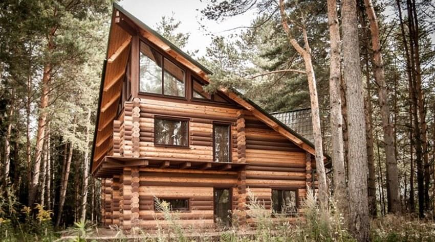 wooden house tyrone the design of a house in country style with modern interior - Wood Houses Design