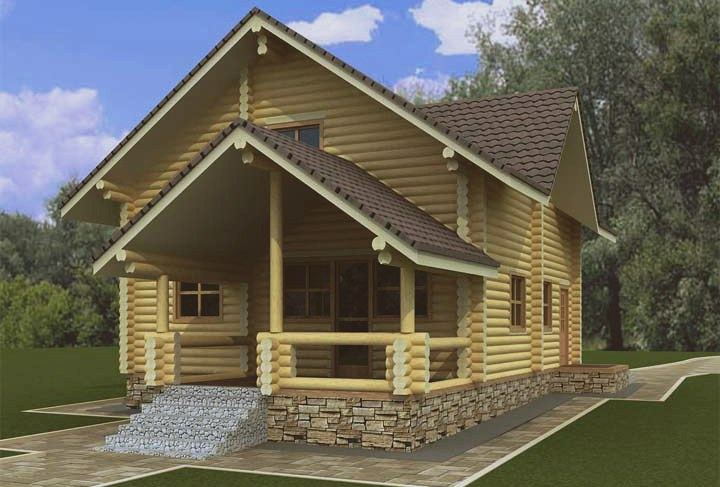 Cozy Timber Log Cabin House 125 Wooden Doors Wooden